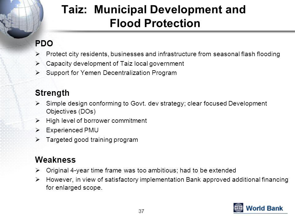 Taiz: Municipal Development and Flood Protection