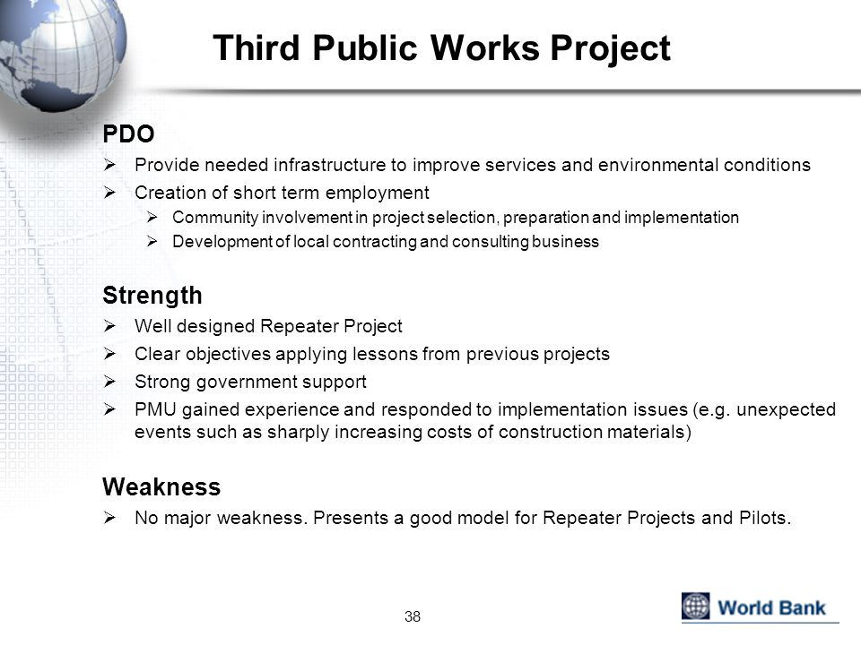Third Public Works Project
