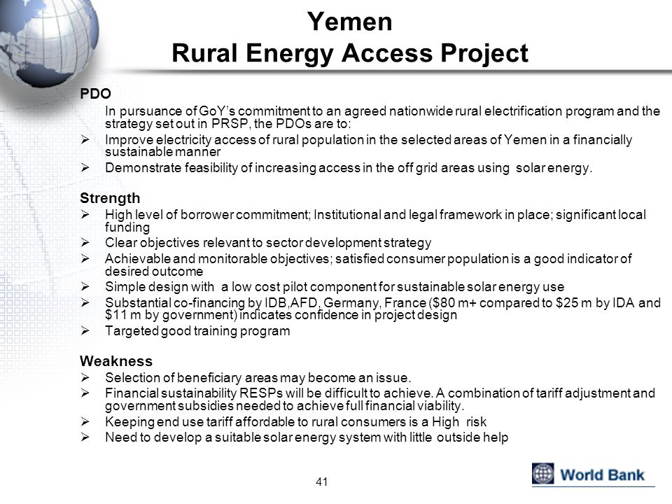 Yemen Rural Energy Access Project