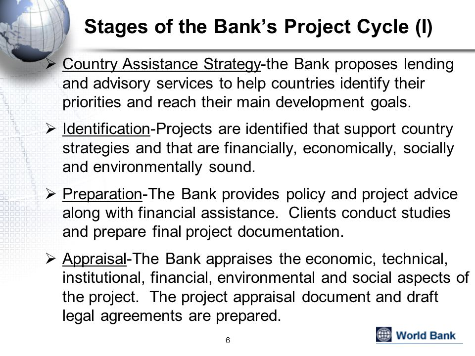 Stages of the Bank's Project Cycle (I)