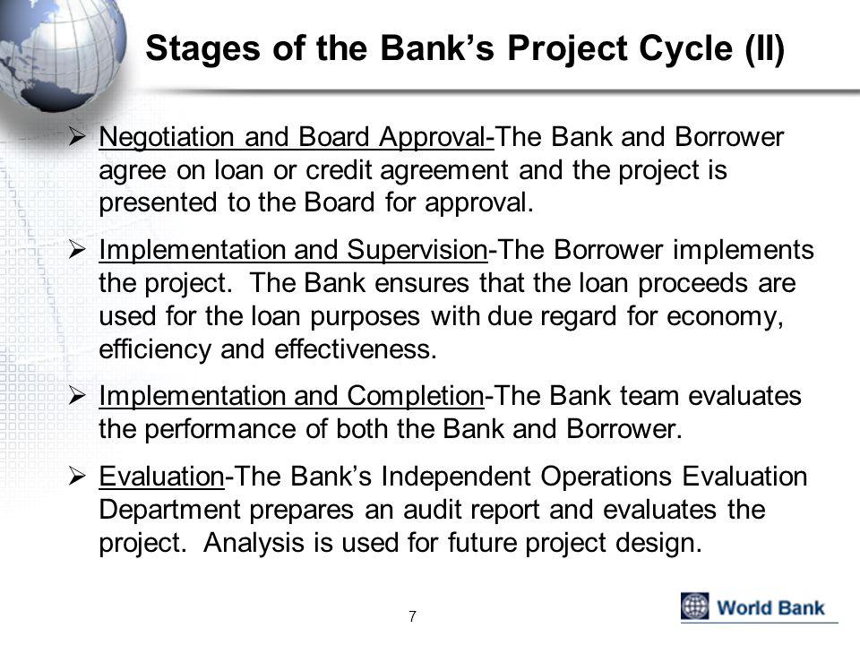 Stages of the Bank's Project Cycle (II)