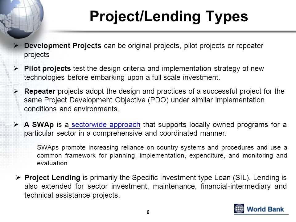 Project/Lending Types