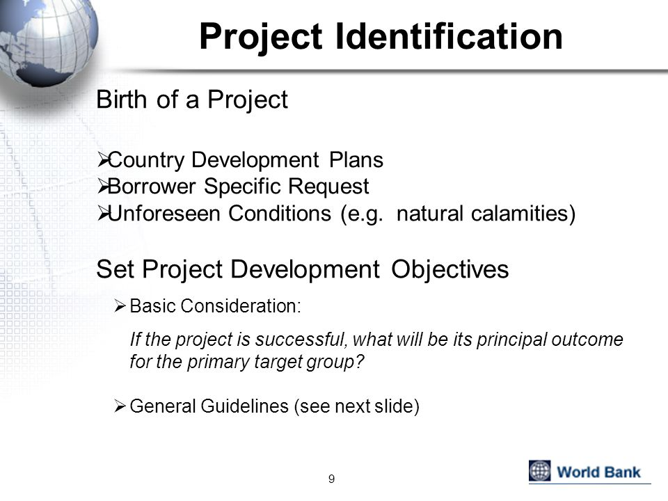 Project Identification