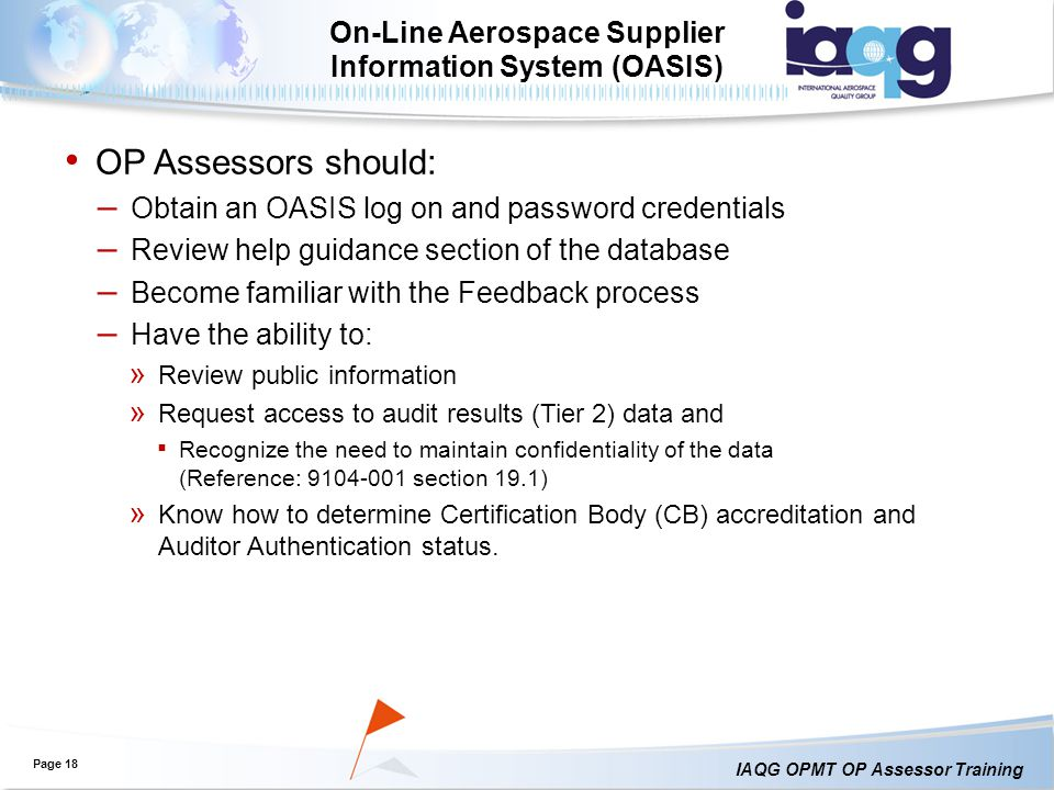 On-Line Aerospace Supplier Information System (OASIS)