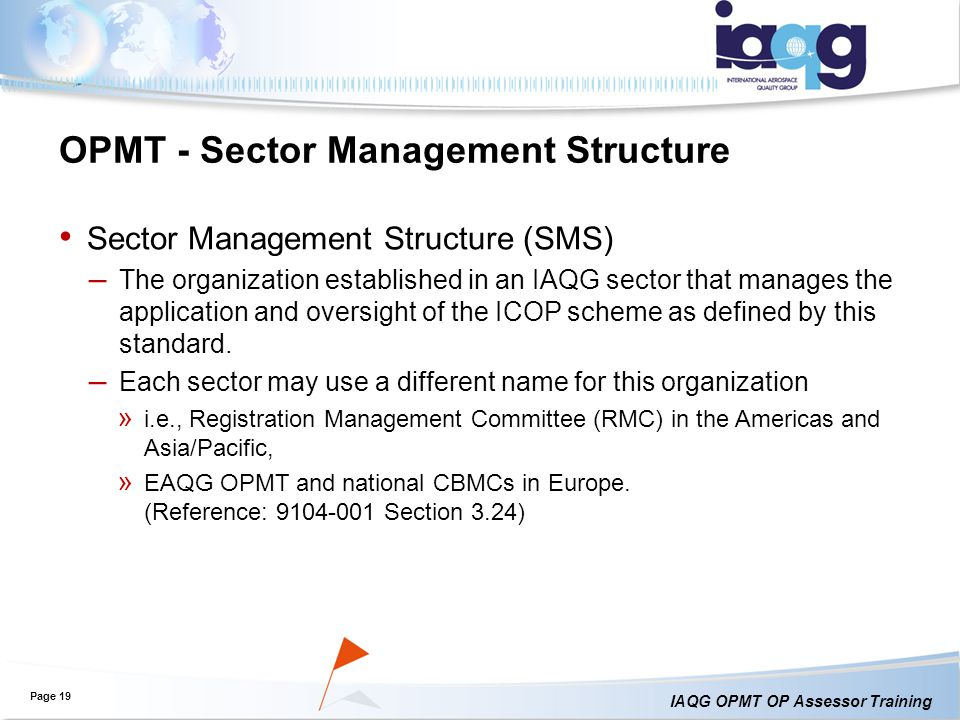 OPMT - Sector Management Structure