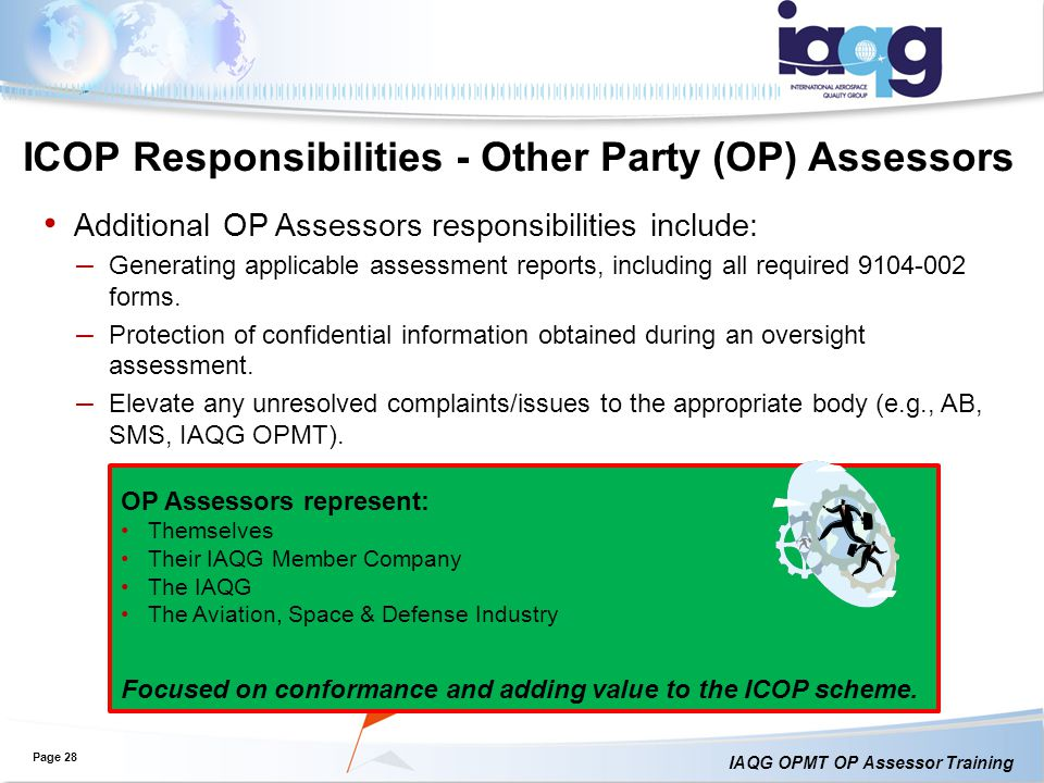 ICOP Responsibilities - Other Party (OP) Assessors