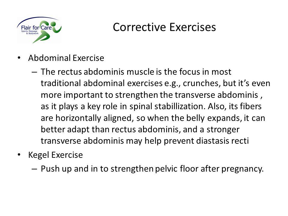 Corrective Exercises Abdominal Exercise