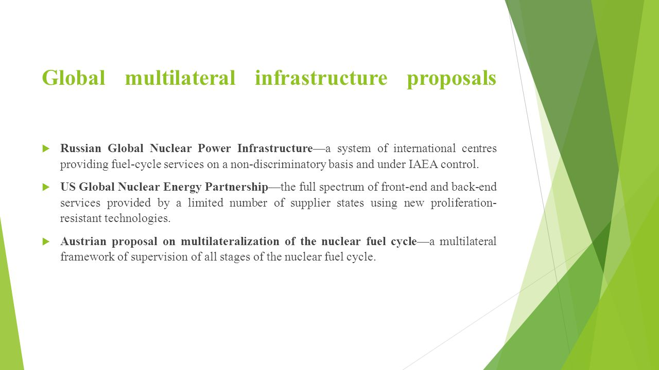 Global multilateral infrastructure proposals