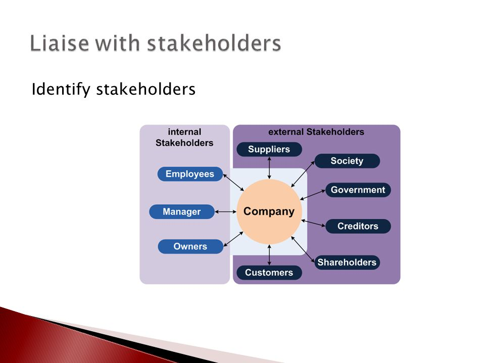Liaise with stakeholders