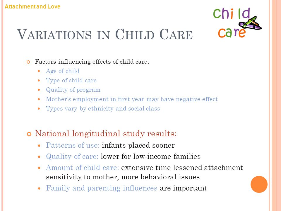 Variations in Child Care