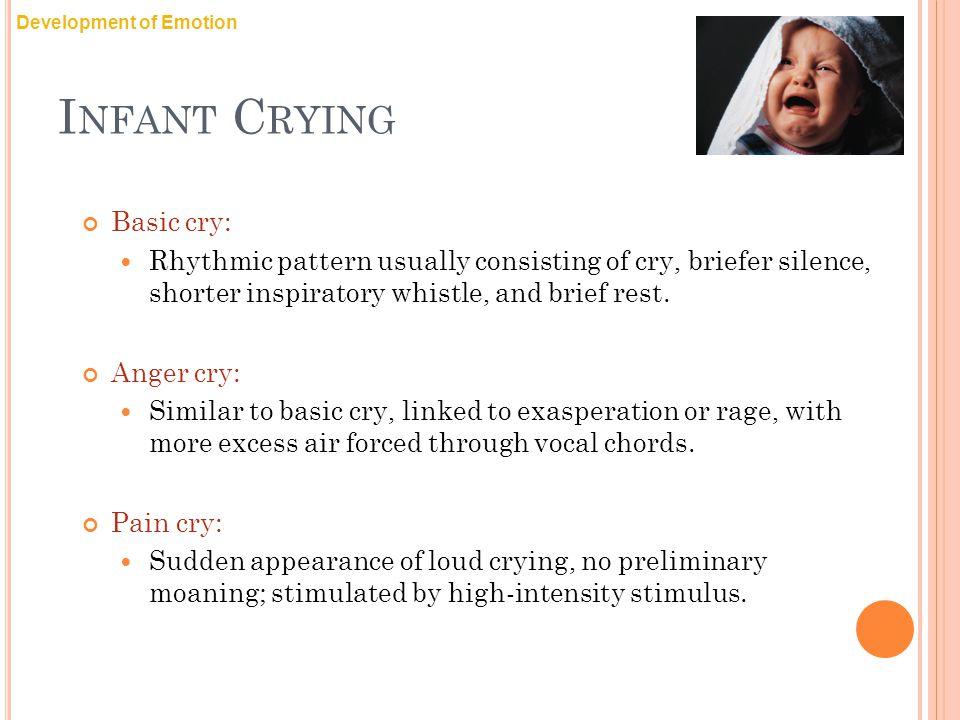 Infant Crying Basic cry: