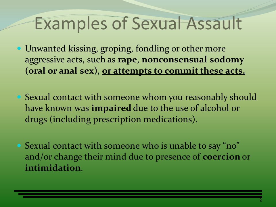 Examples of Sexual Assault