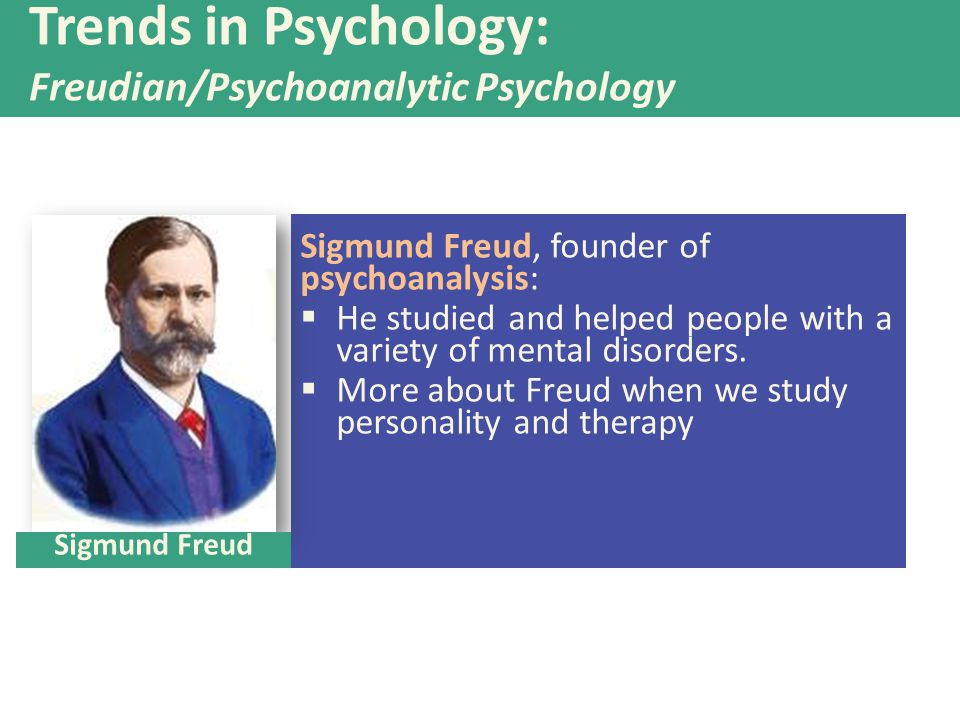 Trends in Psychology: Freudian/Psychoanalytic Psychology