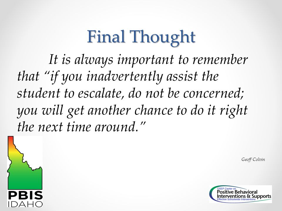 Final Thought