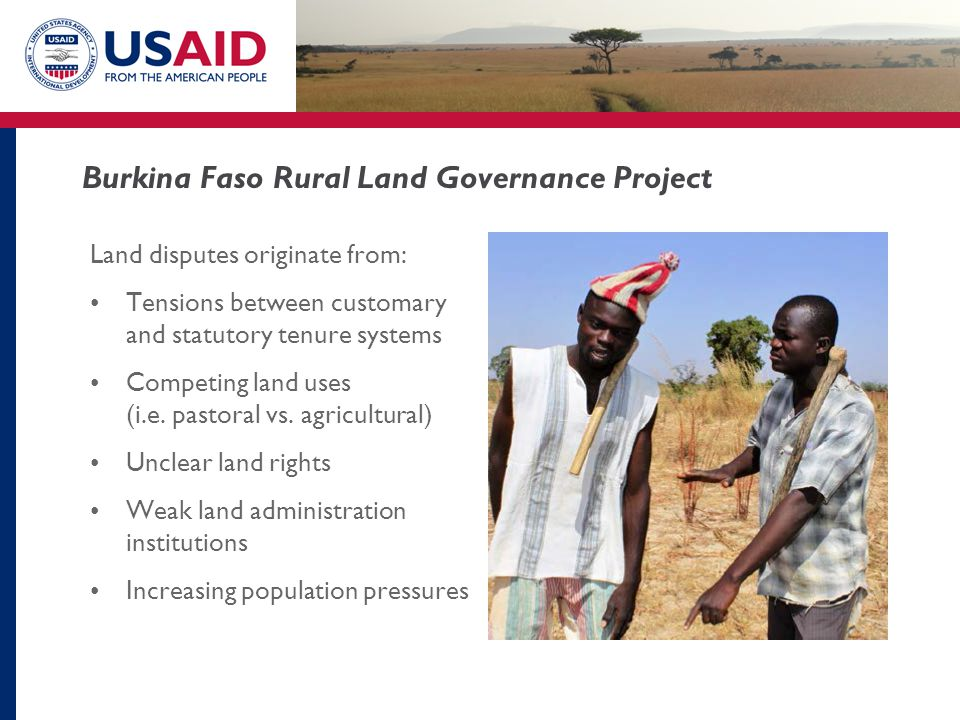 Burkina Faso Rural Land Governance Project