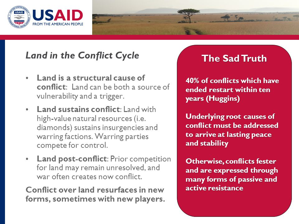 Land in the Conflict Cycle