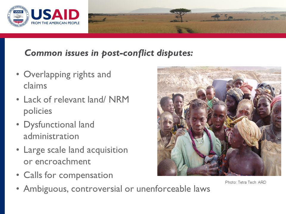 Common issues in post-conflict disputes:
