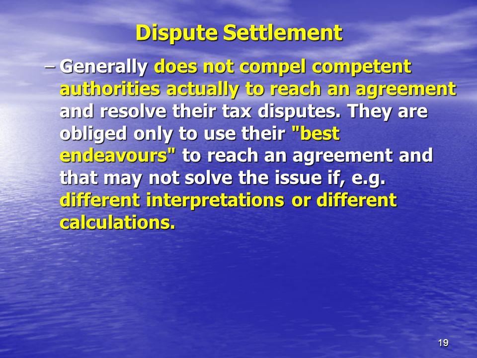 Dispute Settlement