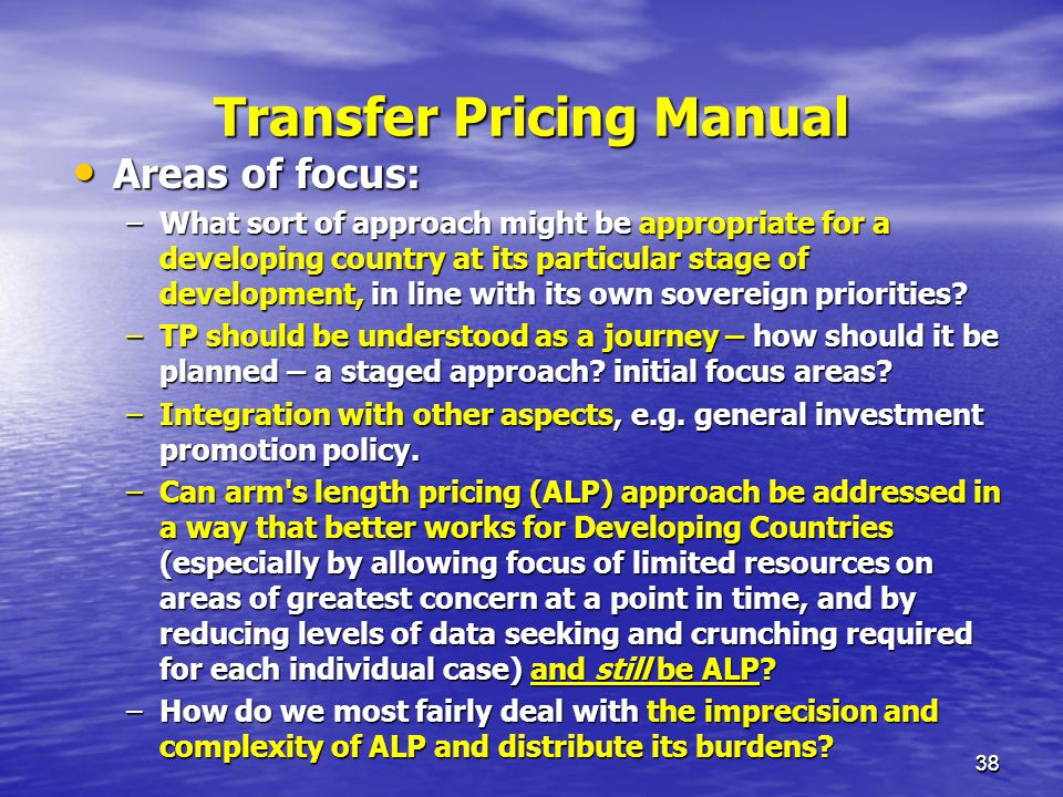 Transfer Pricing Manual