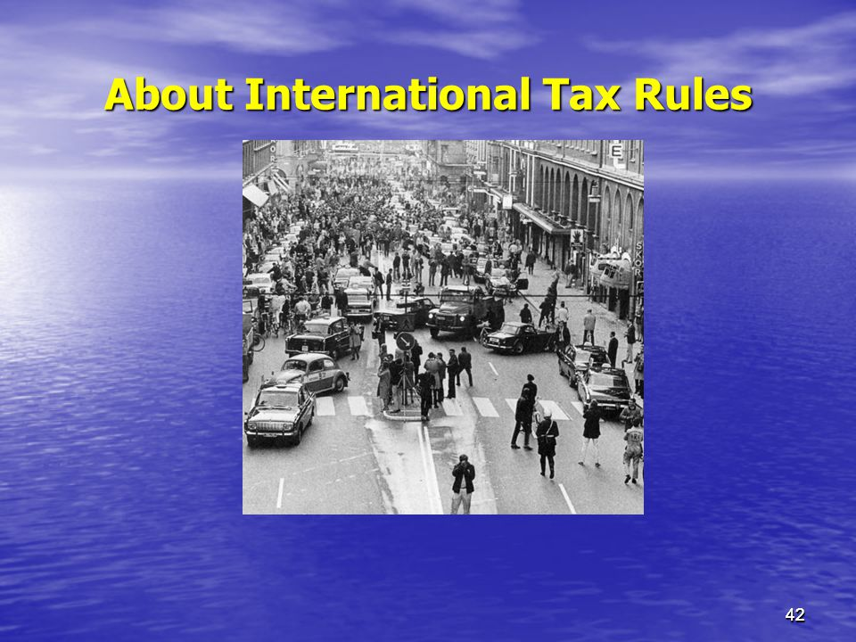 About International Tax Rules