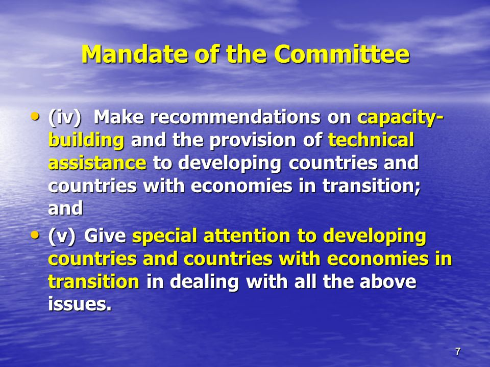 Mandate of the Committee