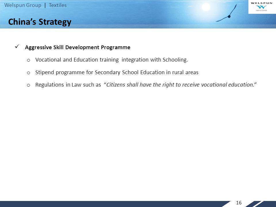 China's Strategy Aggressive Skill Development Programme
