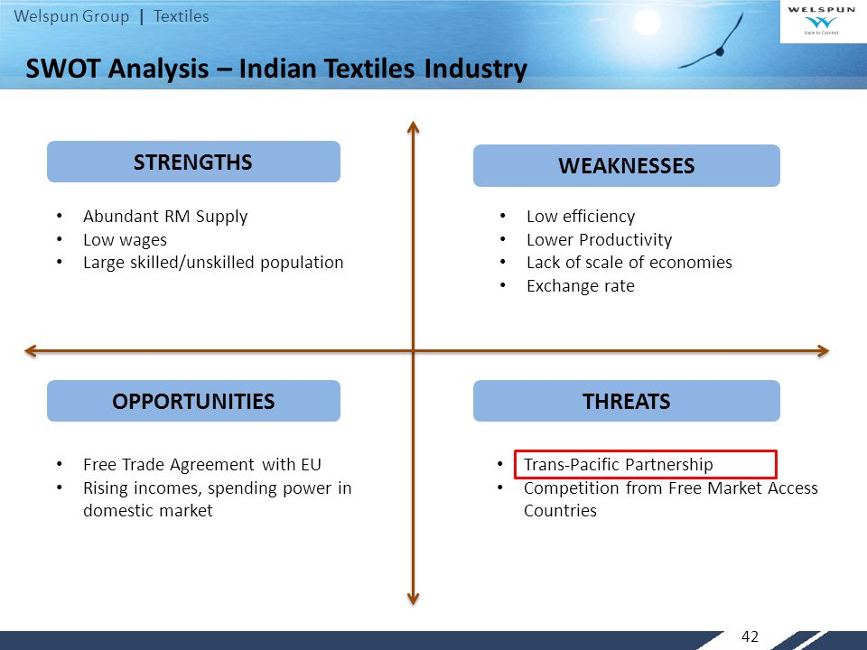 swot analysis on garment sector in srilanka As the ministry of textiles works overtime to draft the ntp, subir ghosh does a  swot (strengths, weaknesses, opportunities, threats) analysis of.