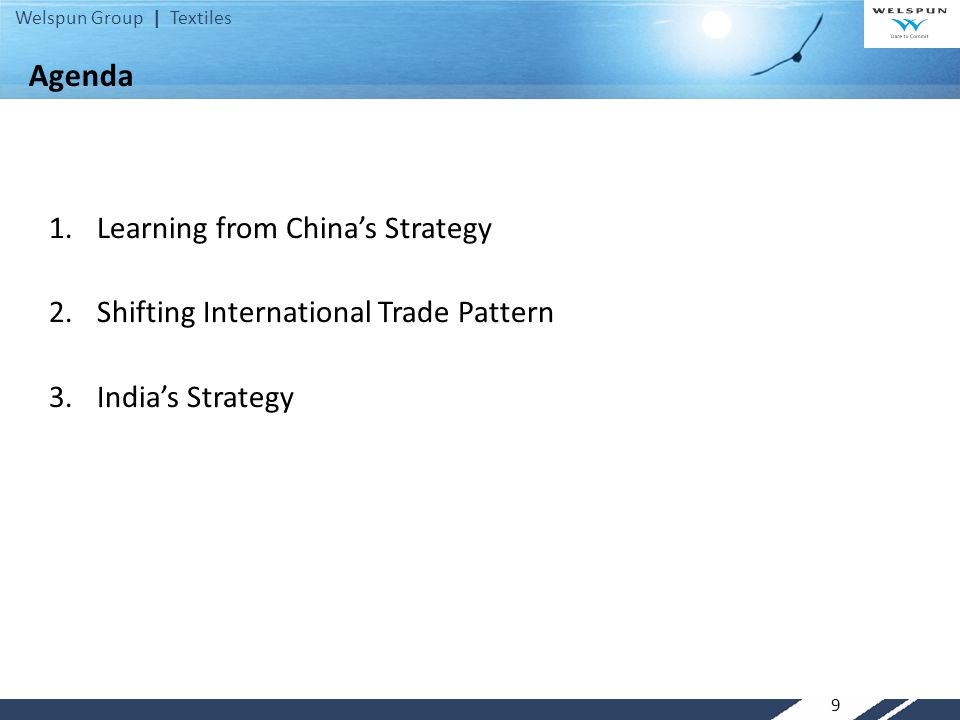 Agenda Learning from China's Strategy