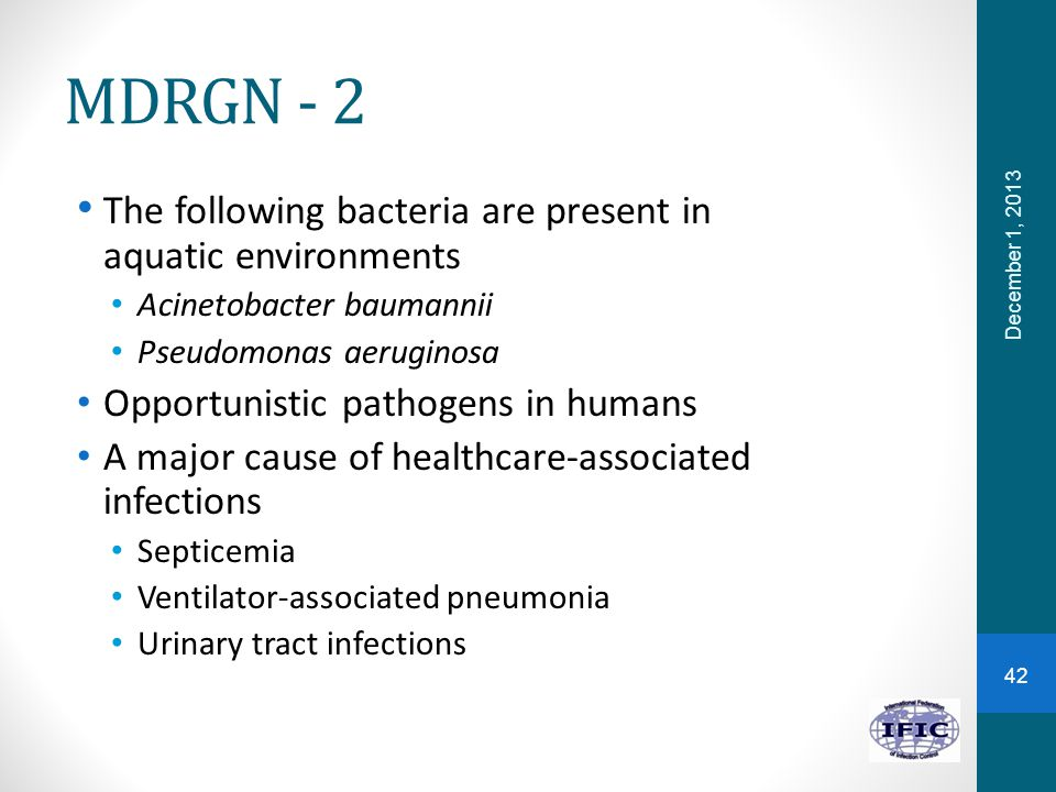 MDRGN - 2 The following bacteria are present in aquatic environments