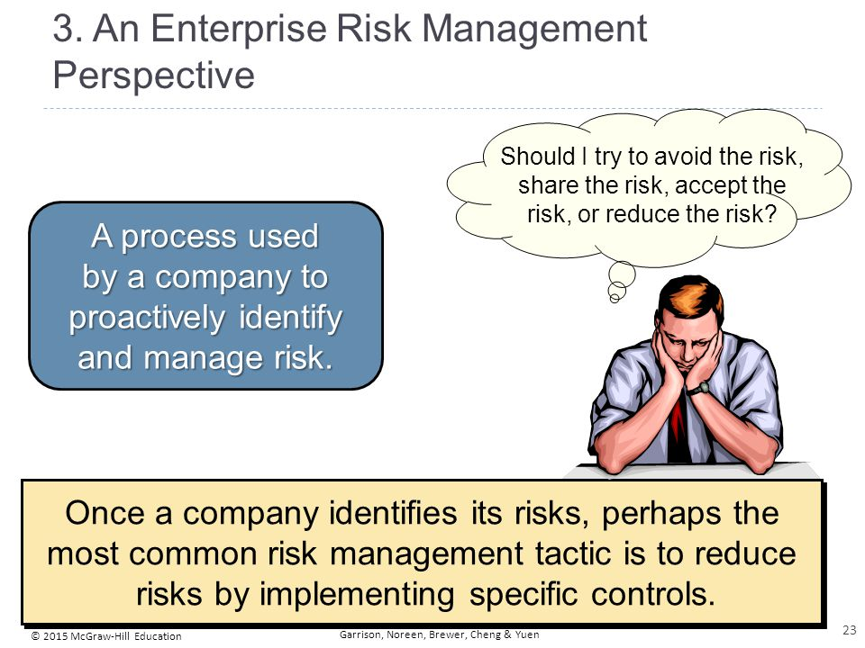 An Enterprise Risk Management Perspective