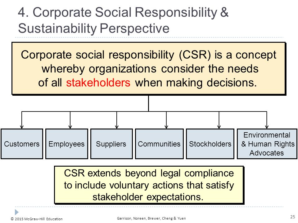 Corporate Social Responsibility & Sustainability Perspective
