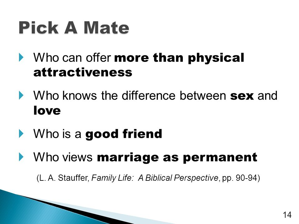 Pick A Mate Who can offer more than physical attractiveness