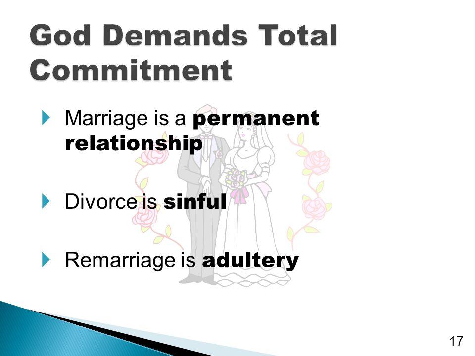God Demands Total Commitment