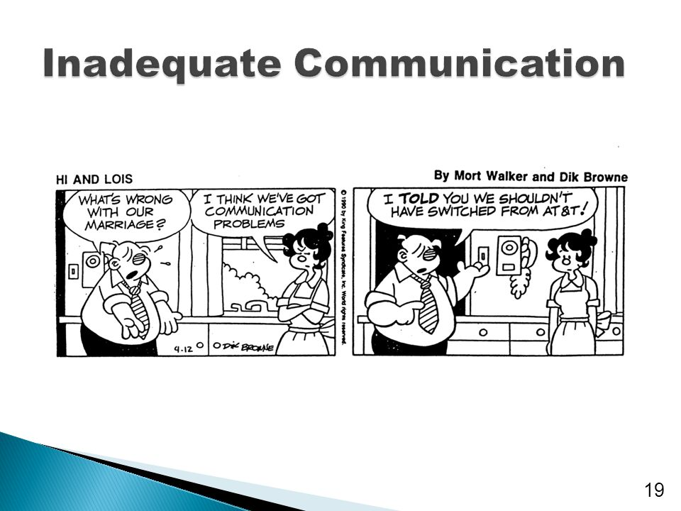 Inadequate Communication