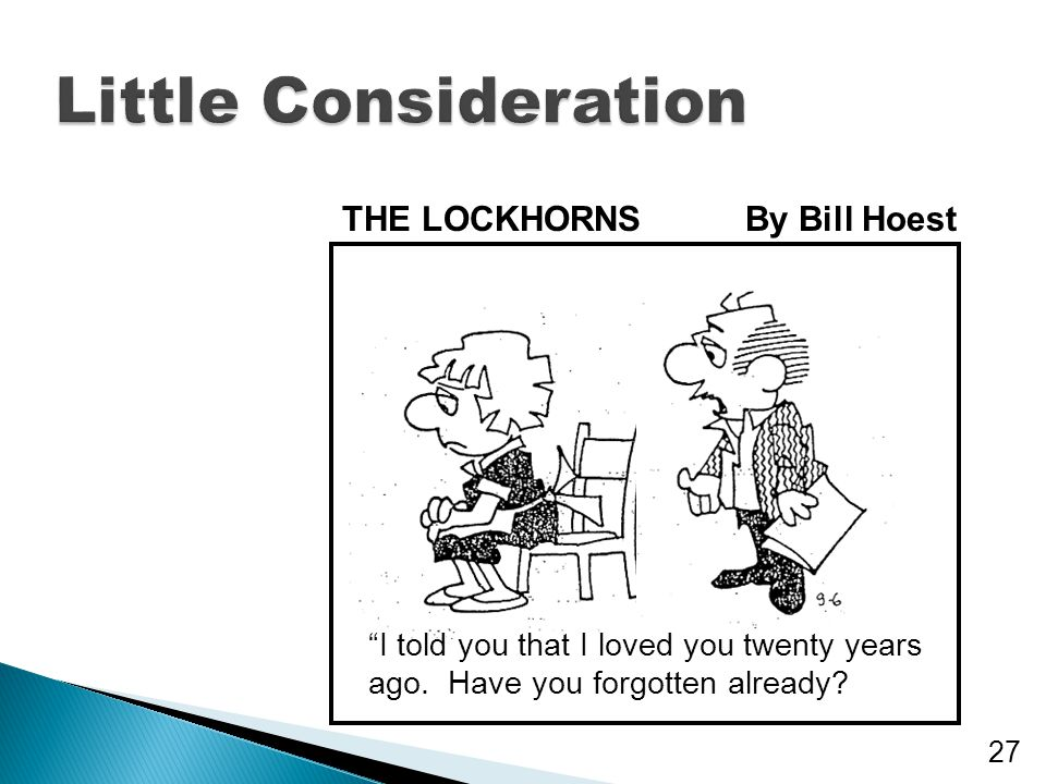 Little Consideration THE LOCKHORNS By Bill Hoest