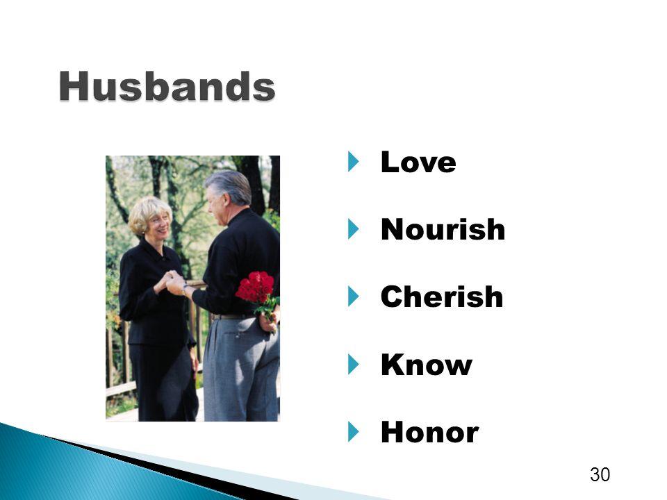 Husbands Love Nourish Cherish Know Honor