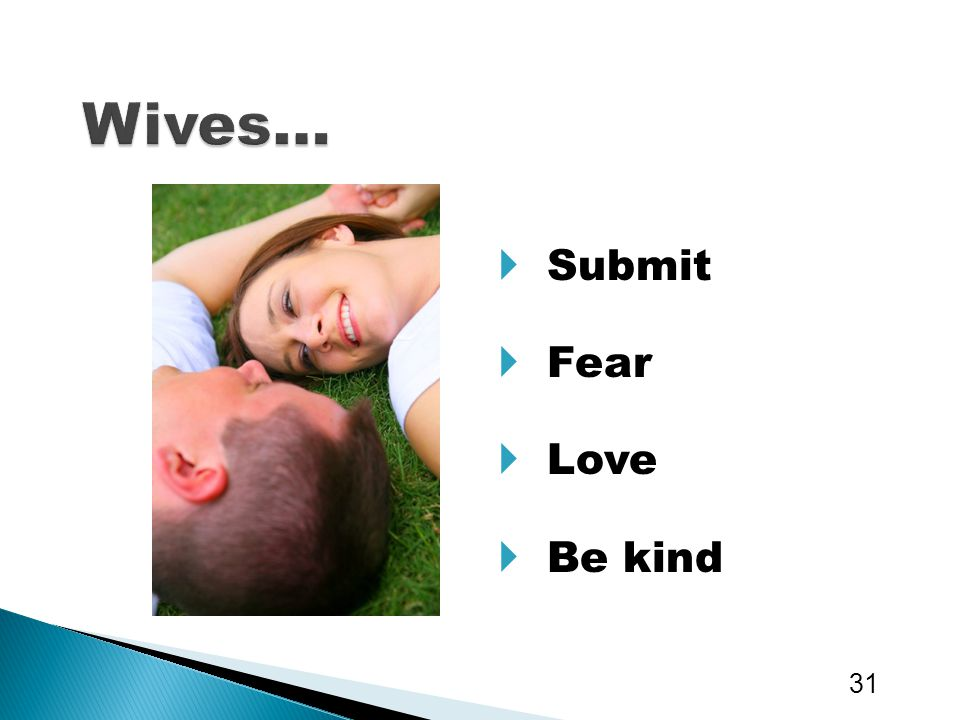 Wives… Submit Fear Love Be kind