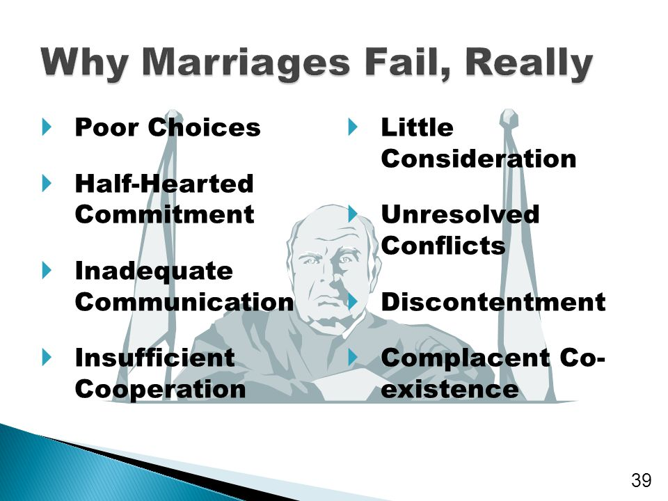 Why Marriages Fail, Really