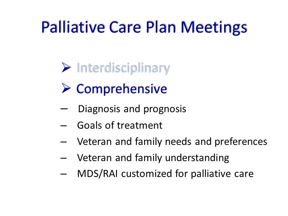 Palliative Care Plan Meetings