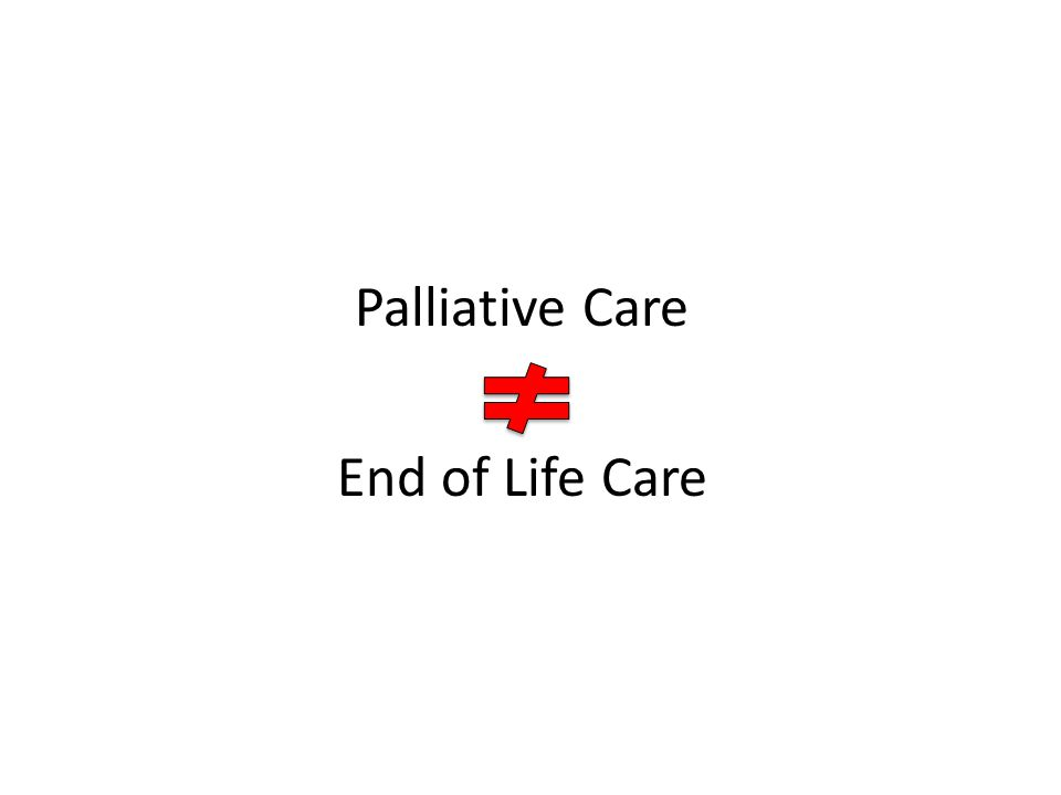 Palliative Care End of Life Care