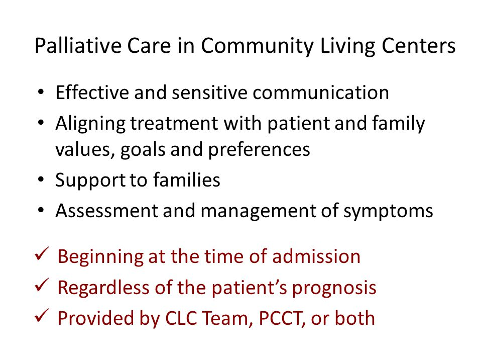 Palliative Care in Community Living Centers