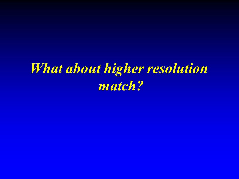 What about higher resolution
