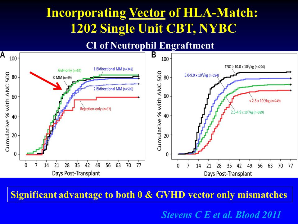 Incorporating Vector of HLA-Match: CI of Neutrophil Engraftment