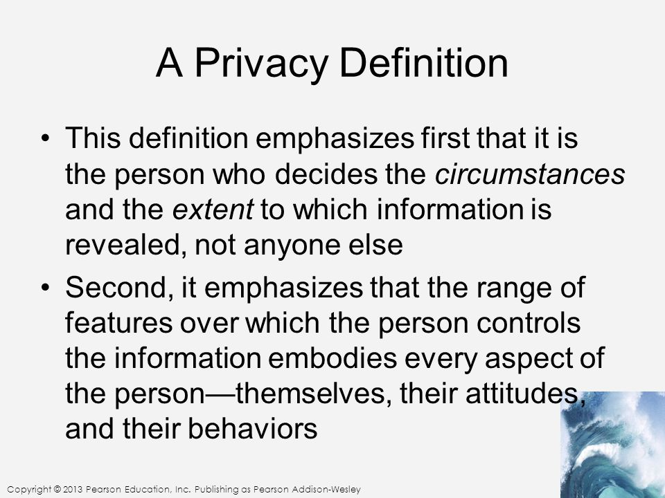 A Privacy Definition