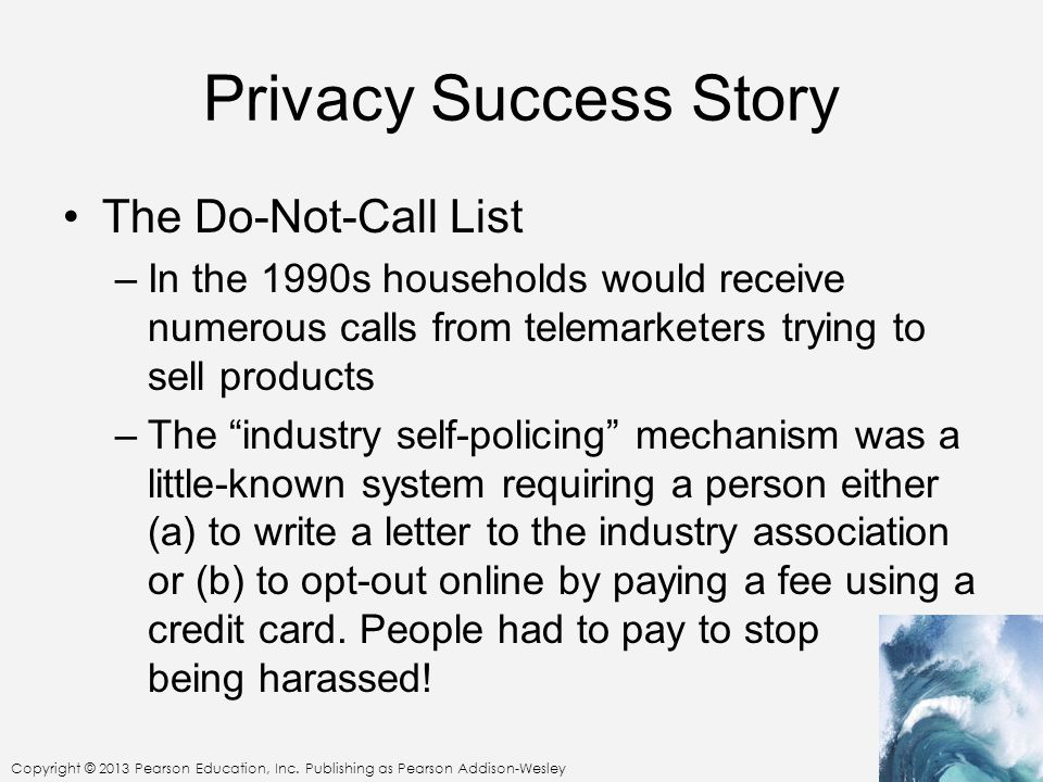 Privacy Success Story The Do-Not-Call List