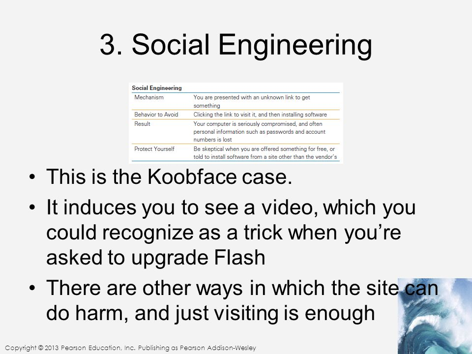 3. Social Engineering This is the Koobface case.