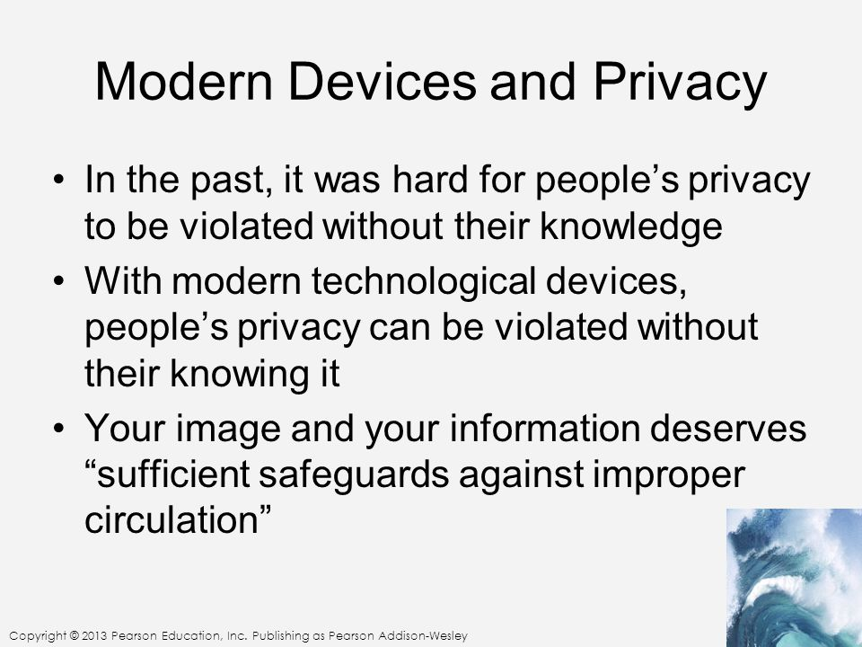Modern Devices and Privacy