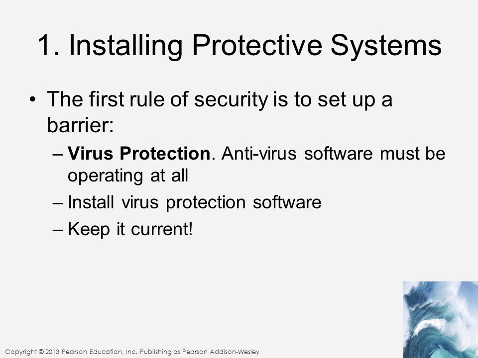 1. Installing Protective Systems