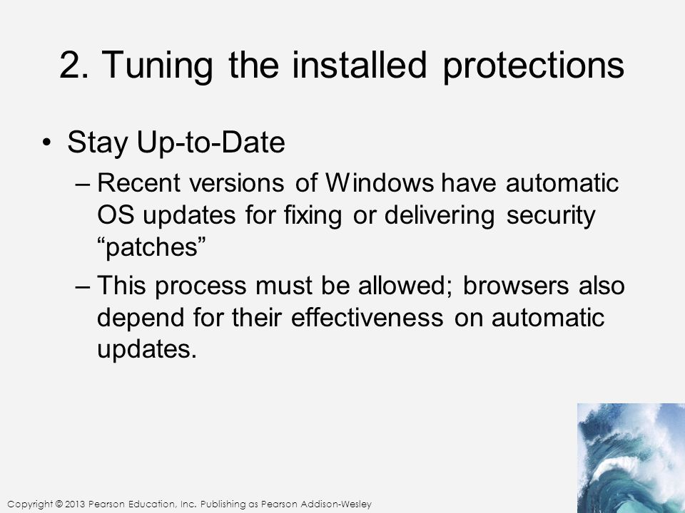 2. Tuning the installed protections