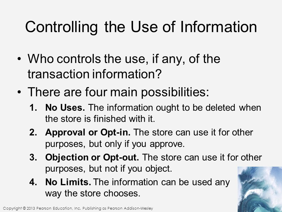 Controlling the Use of Information